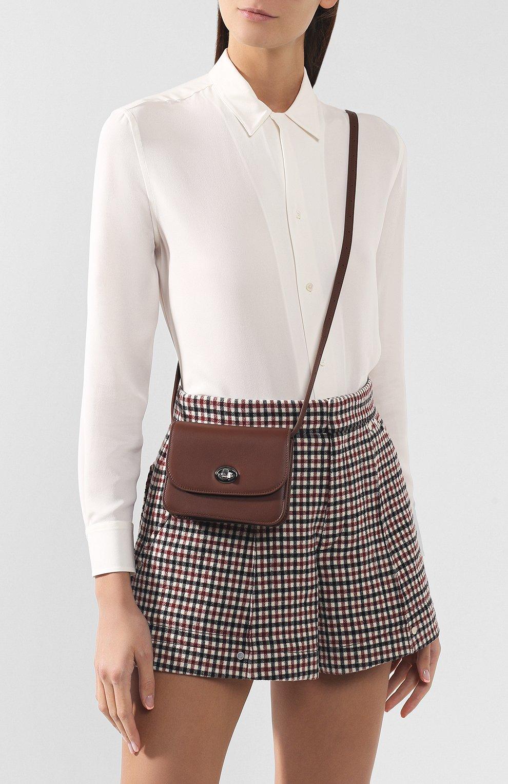 Женская поясная сумка flap pouch LORO PIANA коричневого цвета, арт. FAI7095 | Фото 5