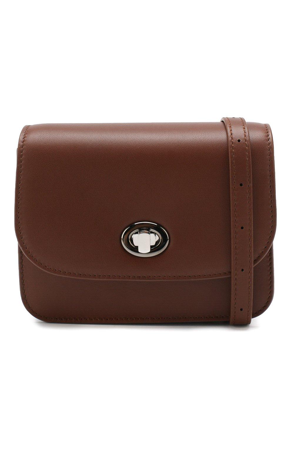 Женская поясная сумка flap pouch LORO PIANA коричневого цвета, арт. FAI7095 | Фото 6