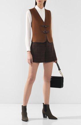 Женский шерстяной жилет RALPH LAUREN коричневого цвета, арт. 290762452 | Фото 2