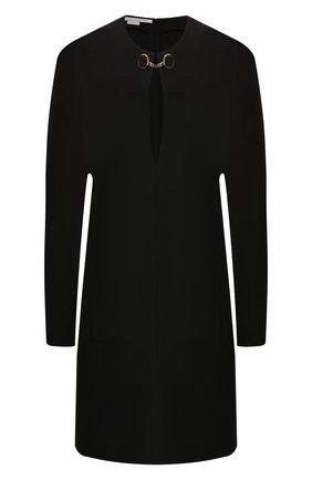 Женское платье из смеси шерсти и вискозы STELLA MCCARTNEY черного цвета, арт. 578404/SNA34   Фото 1