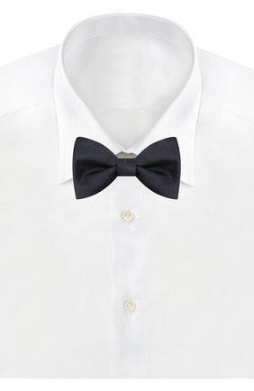 Мужской шелковый галстук-бабочка LANVIN темно-синего цвета, арт. 1302/B0W TIE   Фото 2