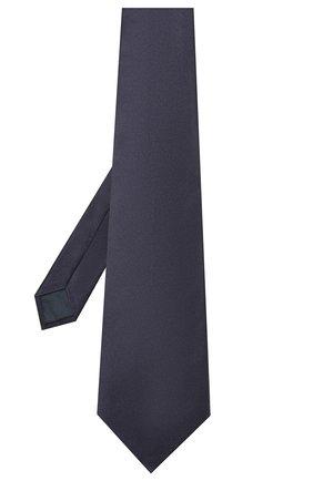 Мужской комплект из галстука и платка LANVIN темно-синего цвета, арт. 1282/TIE SET   Фото 2