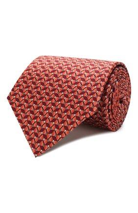 Мужской комплект из галстука и платка LANVIN бордового цвета, арт. 4200/TIE SET   Фото 1