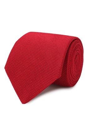 Мужской шелковый галстук LANVIN красного цвета, арт. 1207/TIE | Фото 1