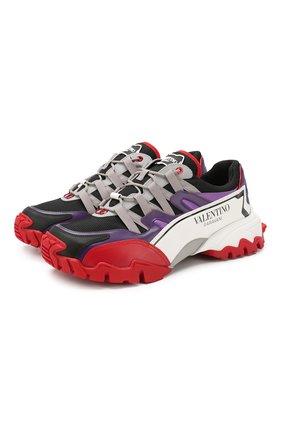 Комбинированные кроссовки Valentino Garavani Climbers | Фото №1
