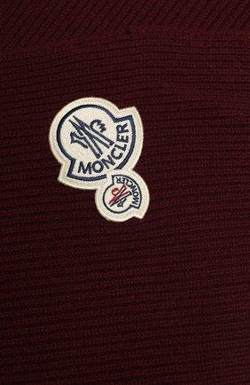 Мужской шарф из смеси шерсти и кашемира MONCLER бордового цвета, арт. E2-091-99041-00-A9188 | Фото 2