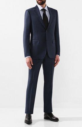 Мужской костюм из смеси шерсти и шелка ERMENEGILDO ZEGNA синего цвета, арт. 616691/221225 | Фото 1