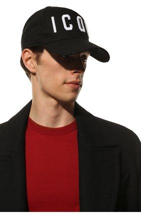 Мужской хлопковая бейсболка icon DSQUARED2 черного цвета, арт. BCM4001 05C00001 | Фото 2 (Материал: Текстиль, Хлопок, Синтетический материал)