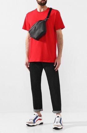 Мужская кожаная поясная сумка palermo DOLCE & GABBANA черного цвета, арт. BM1734/AZ319 | Фото 2