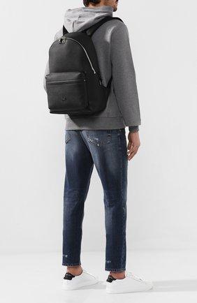 Мужской кожаный рюкзак vulcano DOLCE & GABBANA черного цвета, арт. BM1755/AZ319 | Фото 2