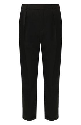 Мужской шерстяные брюки SAINT LAURENT черного цвета, арт. 563592/Y028V | Фото 1