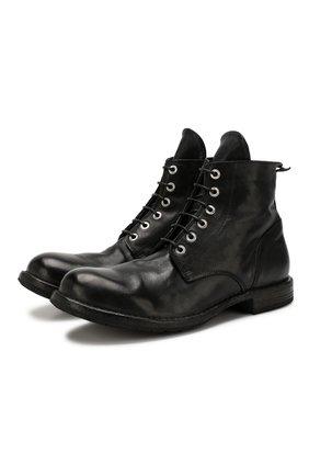 Мужские кожаные ботинки MOMA черного цвета, арт. 2CW007-CU | Фото 1