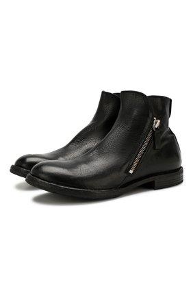 Мужские кожаные сапоги MOMA черного цвета, арт. 2CW001-CU | Фото 1