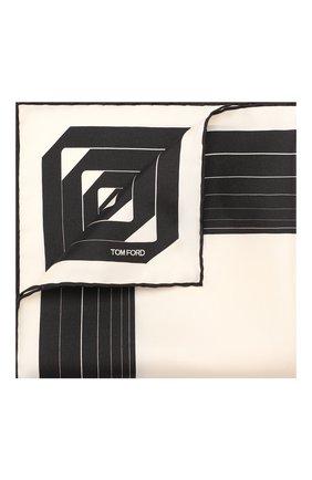 Мужской шелковый платок TOM FORD кремвого цвета, арт. 6TF102/TF312 | Фото 1