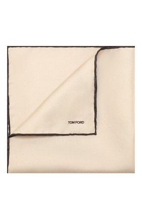 Мужской шелковый платок TOM FORD коричневого цвета, арт. 6TF90/TF312   Фото 1
