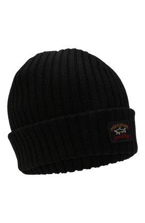 Мужская шерстяная шапка PAUL&SHARK черного цвета, арт. C0P1051 | Фото 1