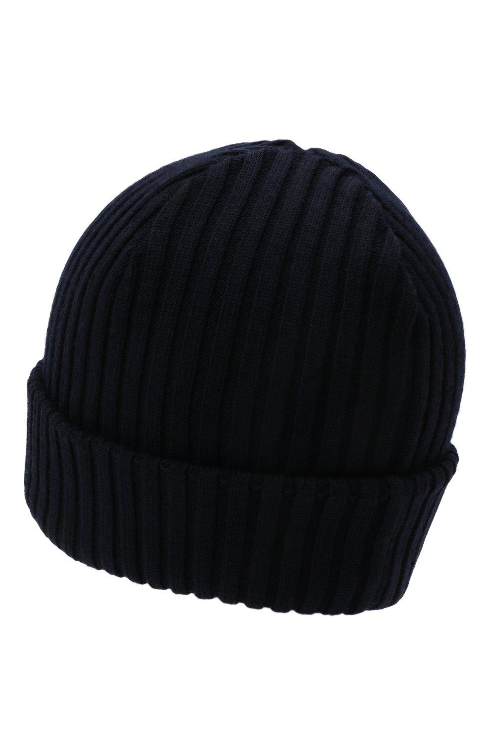 Мужская шерстяная шапка PAUL&SHARK темно-синего цвета, арт. C0P1051/FLV   Фото 2