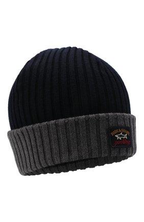 Мужская шерстяная шапка PAUL&SHARK серого цвета, арт. C0P1054 | Фото 1