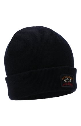 Мужская шерстяная шапка PAUL&SHARK темно-синего цвета, арт. C0P1058 | Фото 1