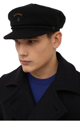 Мужская шерстяное кепи PAUL&SHARK темно-синего цвета, арт. C0P7161 | Фото 2