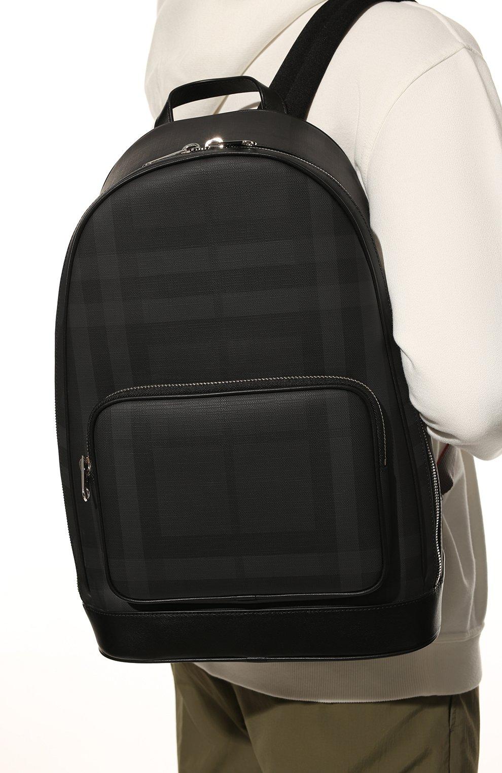 Мужской рюкзак BURBERRY темно-серого цвета, арт. 8013988 | Фото 2