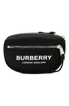 Мужская текстильная поясная сумка BURBERRY черного цвета, арт. 8014519 | Фото 1