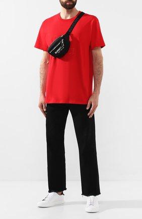 Мужская текстильная поясная сумка BURBERRY черного цвета, арт. 8014519 | Фото 2