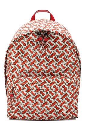 Мужской текстильный рюкзак BURBERRY оранжевого цвета, арт. 8016107 | Фото 1