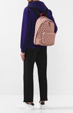 Мужской текстильный рюкзак BURBERRY оранжевого цвета, арт. 8016107 | Фото 2