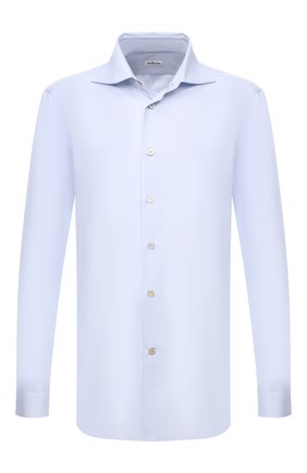 Мужская хлопковая сорочка KITON голубого цвета, арт. UCIH0660712 | Фото 1