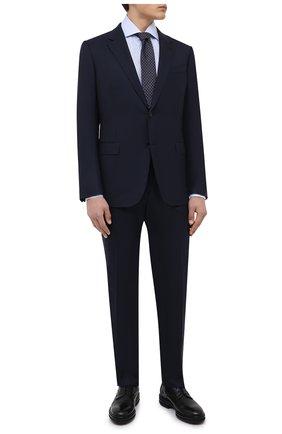 Мужская хлопковая сорочка KITON голубого цвета, арт. UCIH0660712 | Фото 2