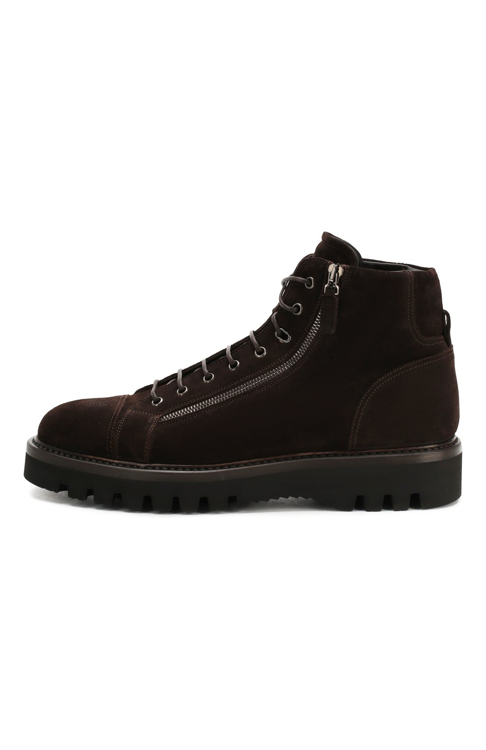 Мужские замшевые ботинки W.GIBBS коричневого цвета, арт. 0672001/1915   Фото 3