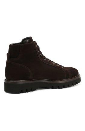 Мужские замшевые ботинки W.GIBBS коричневого цвета, арт. 0672001/1915   Фото 4