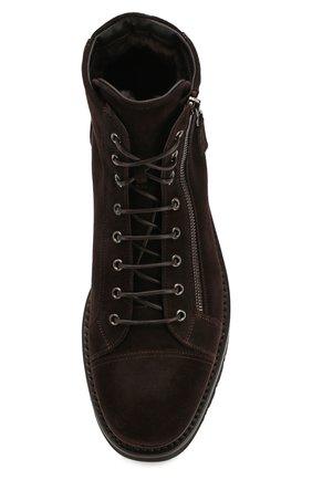 Мужские замшевые ботинки W.GIBBS коричневого цвета, арт. 0672001/1915   Фото 5