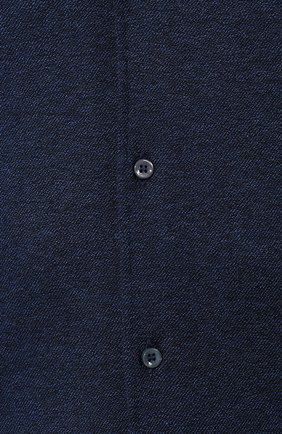 Мужская хлопковая рубашка LORO PIANA темно-синего цвета, арт. FAI2432 | Фото 5