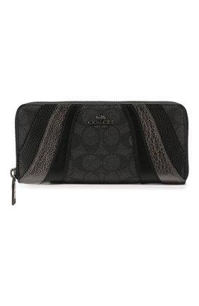 Женские кошелек COACH темно-серого цвета, арт. 72416 | Фото 1