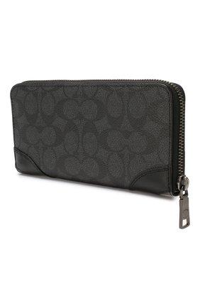 Женские кошелек COACH темно-серого цвета, арт. 72416 | Фото 2