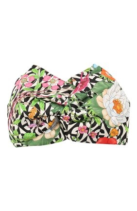 Женская шелковая повязка на голову GUCCI бежевого цвета, арт. 595709/3G599 | Фото 1