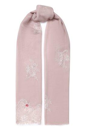 Женская шерстяной палантин VINTAGE SHADES светло-розового цвета, арт. 13713 | Фото 1