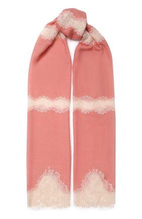 Женская шерстяной палантин VINTAGE SHADES розового цвета, арт. 12244C | Фото 1