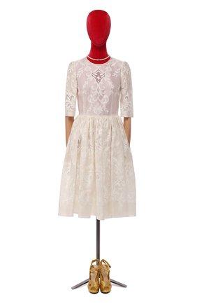 Платье из смеси шелка и хлопка | Фото №1