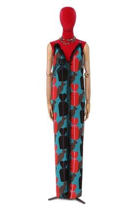 Женское платье с принтом LANVIN голубого цвета, арт. RW-DR2193-3101-E16 | Фото 1