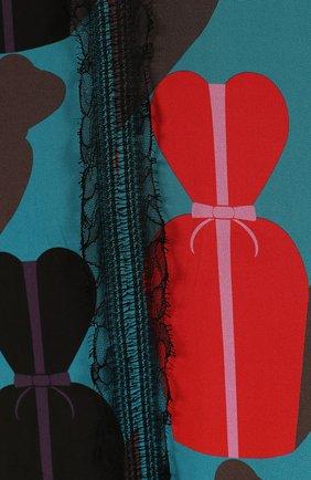 Женское платье с принтом LANVIN голубого цвета, арт. RW-DR2193-3101-E16 | Фото 2