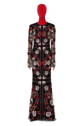 Женское платье-макси ALEXANDER MCQUEEN разноцветного цвета, арт. 435314/QHZ22 | Фото 1