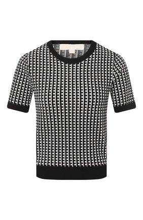 Женская топ MICHAEL MICHAEL KORS черно-белого цвета, арт. MU96P0K5ZV | Фото 1