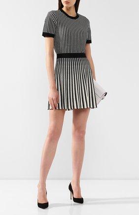 Женская топ MICHAEL MICHAEL KORS черно-белого цвета, арт. MU96P0K5ZV | Фото 2