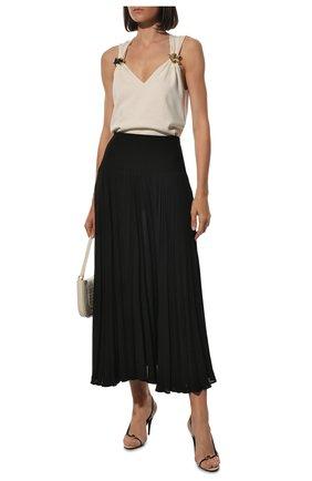 Женская шелковая юбка VALENTINO черного цвета, арт. SB3RA4U51MH | Фото 2
