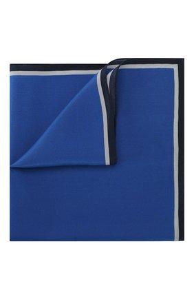 Мужской шелковый платок LANVIN синего цвета, арт. 3462/HANDKERCHIEF   Фото 1