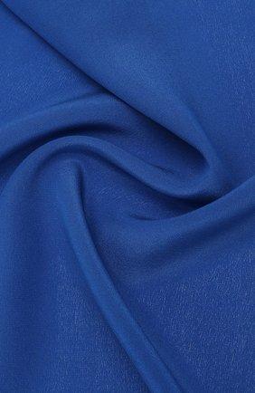Мужской шелковый платок LANVIN синего цвета, арт. 3462/HANDKERCHIEF   Фото 2