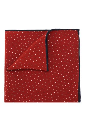 Мужской шелковый платок LANVIN красного цвета, арт. 3465/HANDKERCHIEF   Фото 1